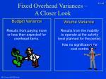 fixed overhead variances a closer look