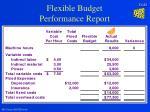 flexible budget performance report23
