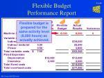 flexible budget performance report25