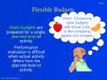 flexible budgets