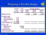 preparing a flexible budget14