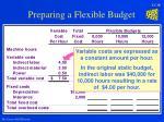 preparing a flexible budget16