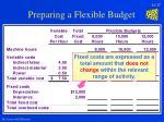 preparing a flexible budget17