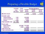 preparing a flexible budget18