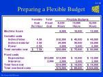 preparing a flexible budget19