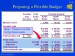 preparing a flexible budget20