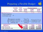 preparing a flexible budget21