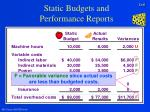static budgets and performance reports6
