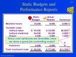 static budgets and performance reports7