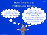static budgets and performance reports8