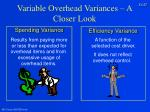 variable overhead variances a closer look