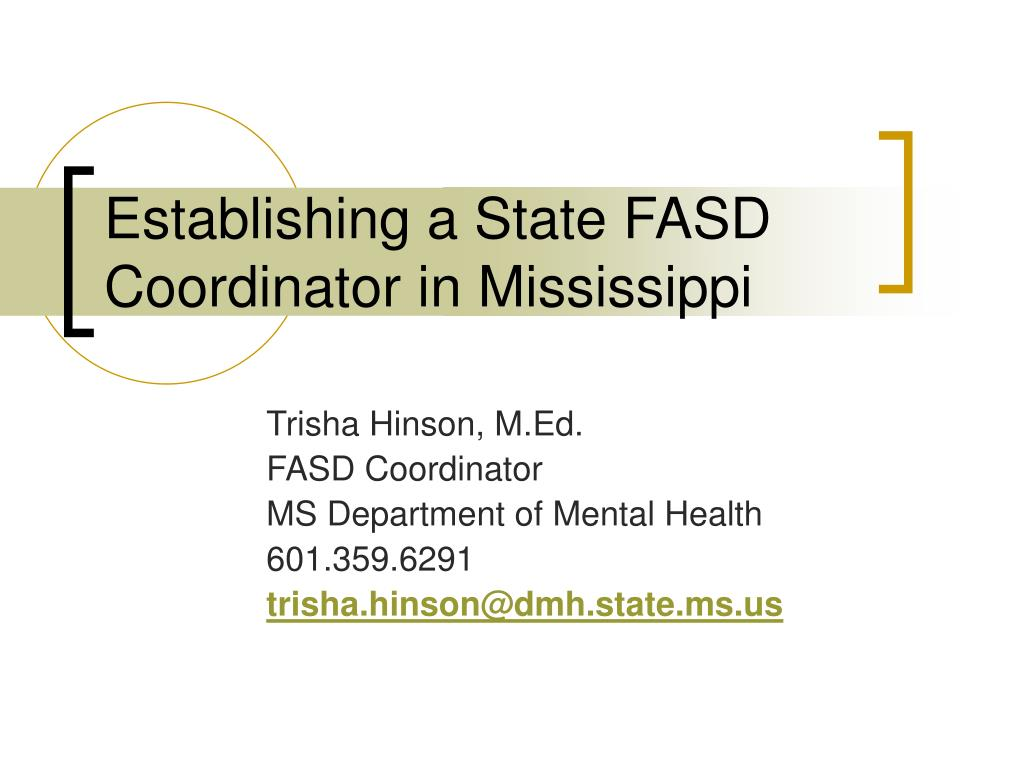 establishing a state fasd coordinator in mississippi