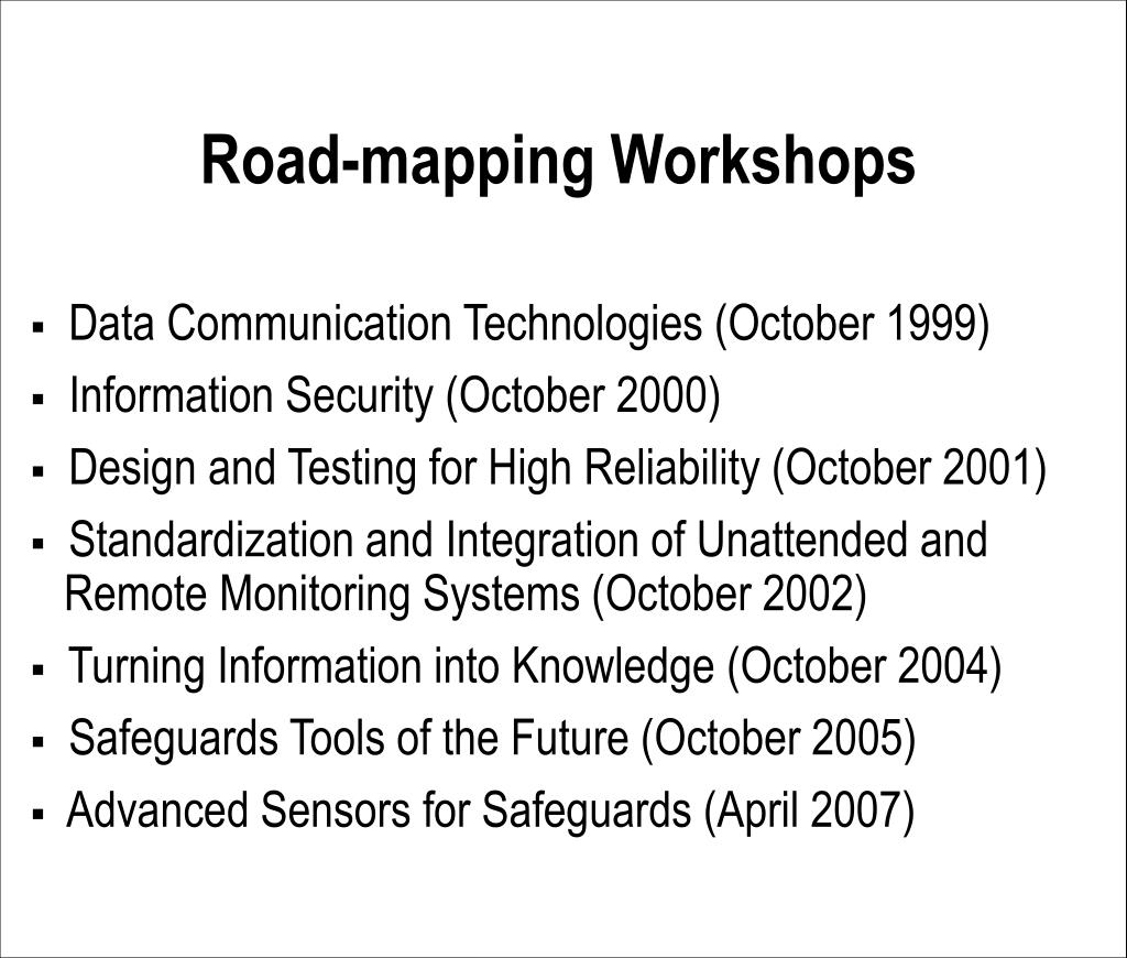 Road-mapping Workshops