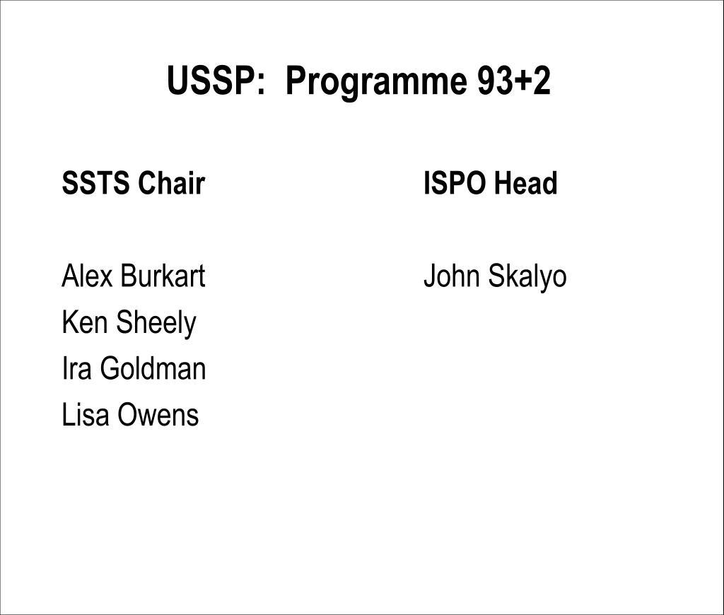 USSP:  Programme 93+2