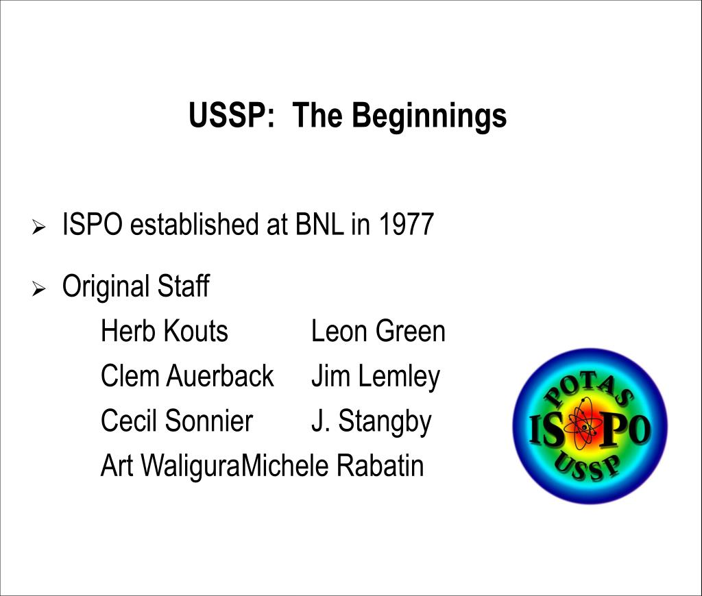 USSP:  The Beginnings