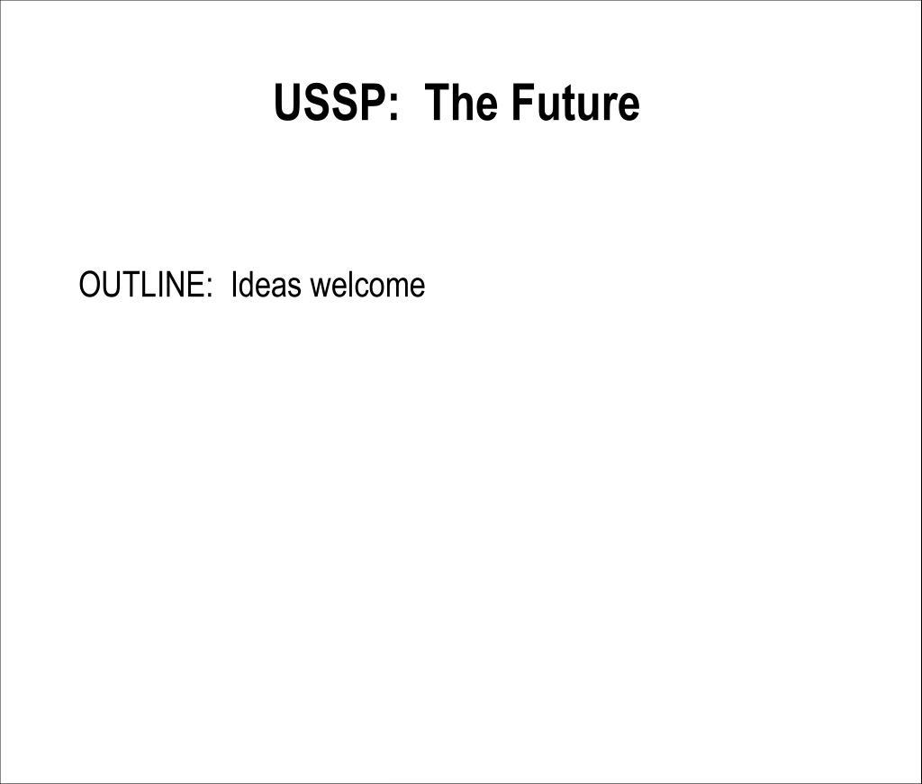 USSP:  The Future