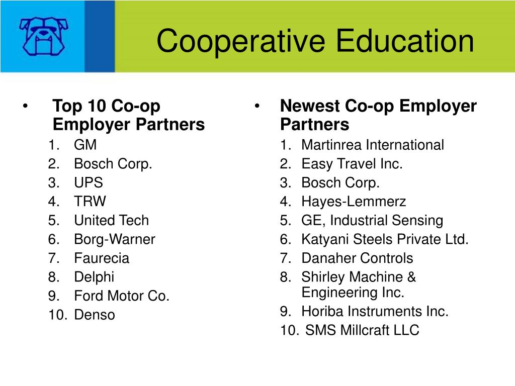 Newest Co-op Employer Partners