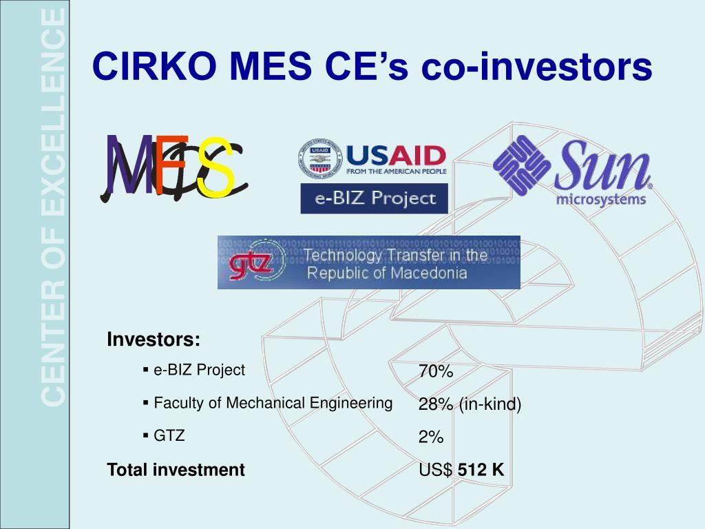 CIRKO MES CE's co-investors