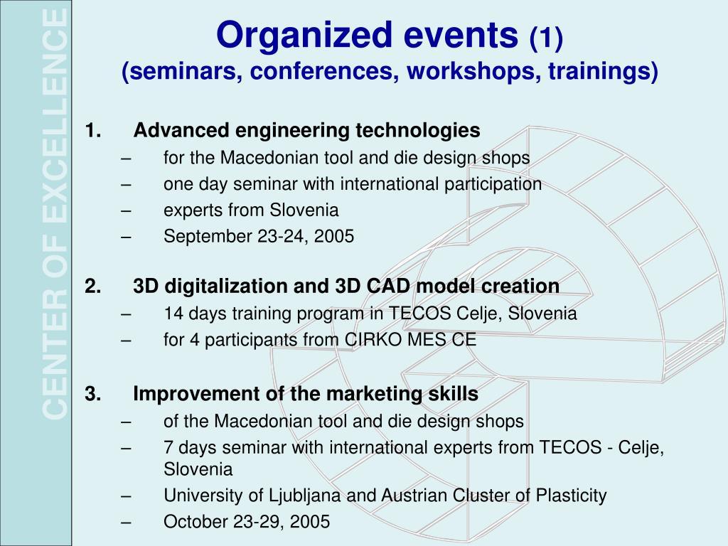 Organized events