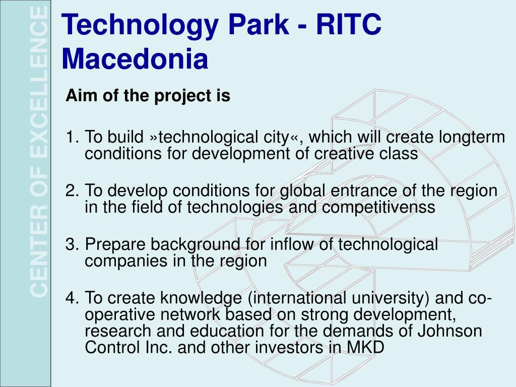 Technology Park - RITC Macedonia