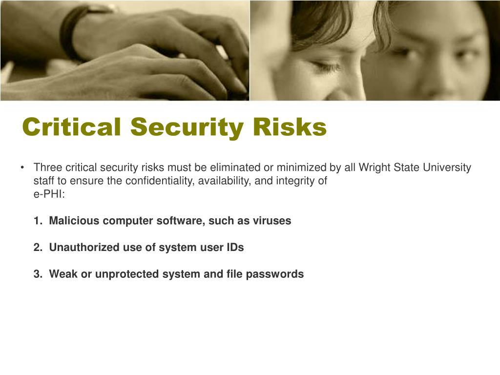 Critical Security Risks