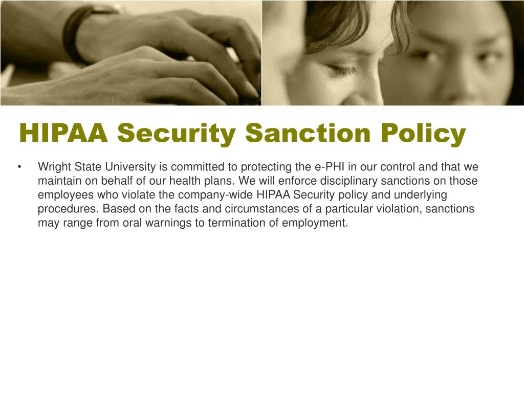 HIPAA Security Sanction Policy