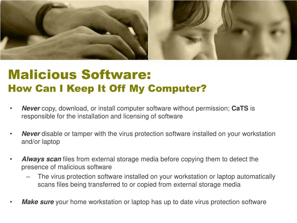 Malicious Software: