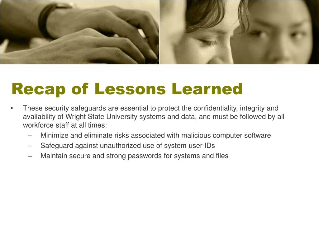 Recap of Lessons Learned