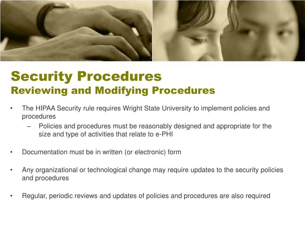 Security Procedures