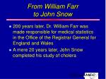 from william farr to john snow
