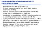 framing employer engagement as part of institutional strategy