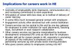implications for careers work in he