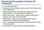 study of specific examples of employer he involvement
