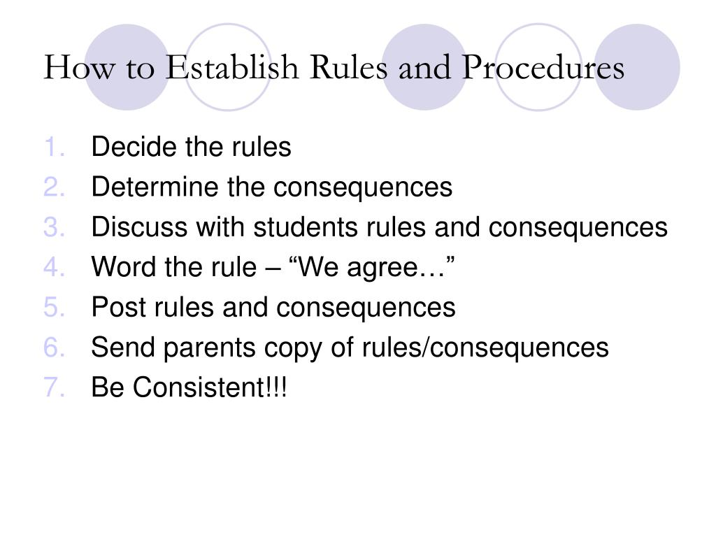 How to Establish Rules and Procedures