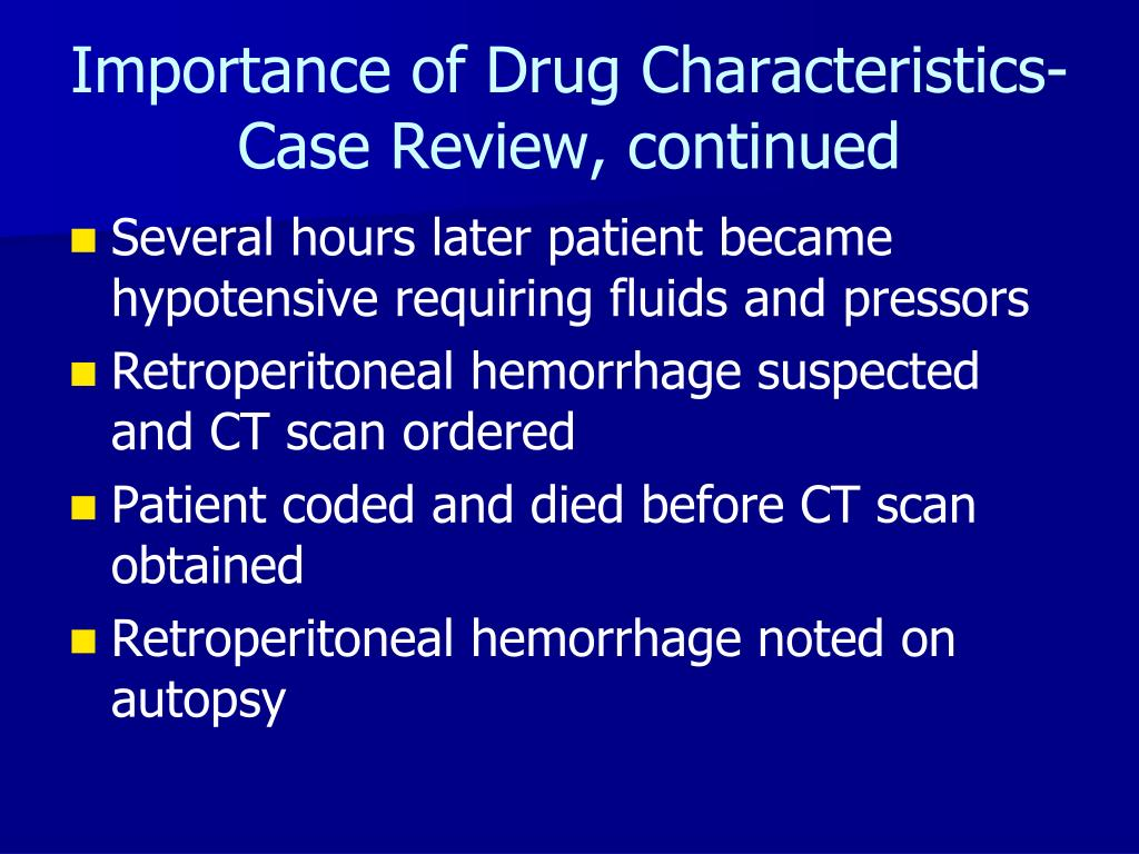 Importance of Drug Characteristics-