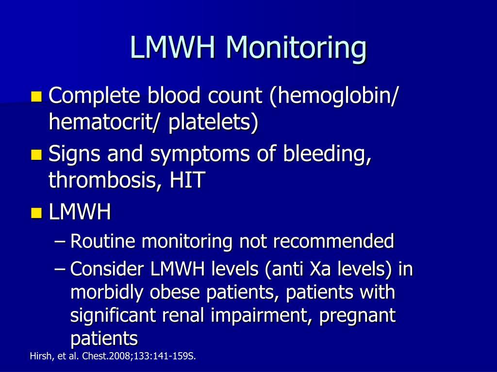 LMWH Monitoring