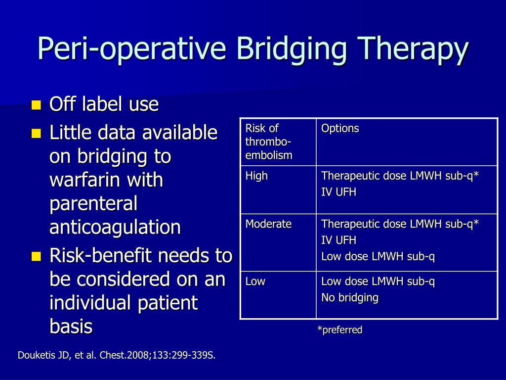 Peri-operative Bridging Therapy