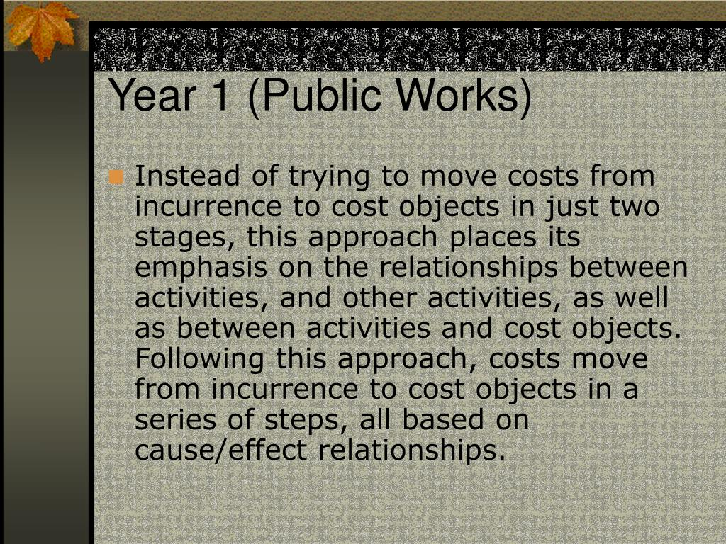 Year 1 (Public Works)
