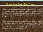 vasant vihar south delhi property