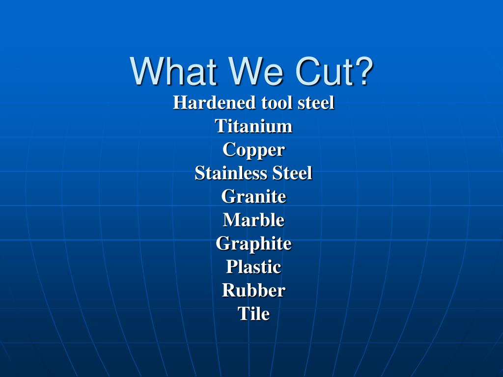 What We Cut?