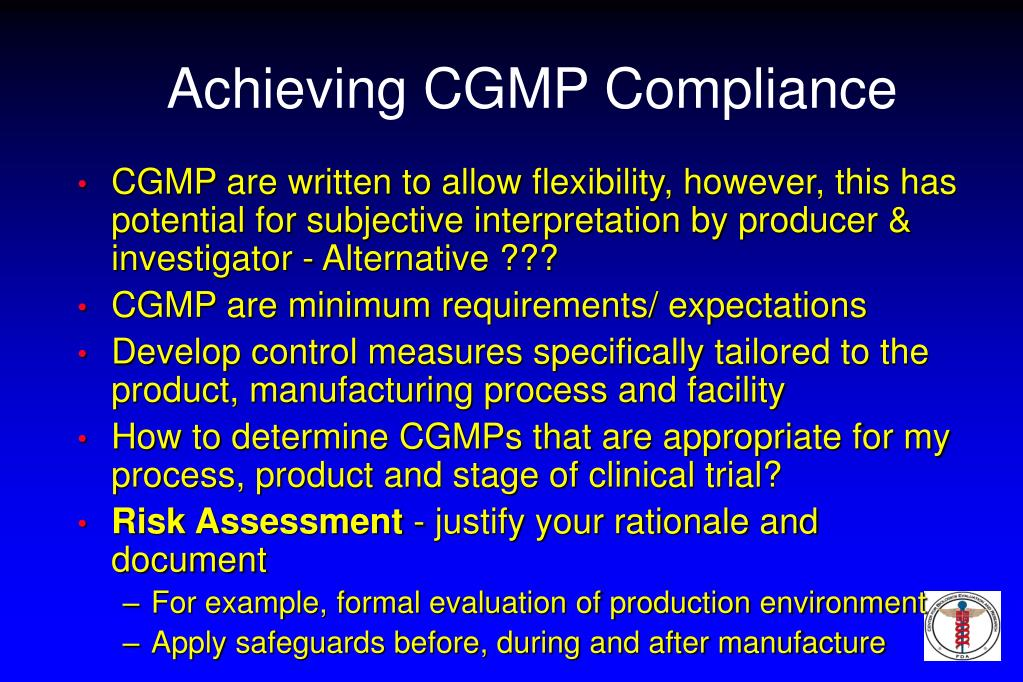 Achieving CGMP Compliance