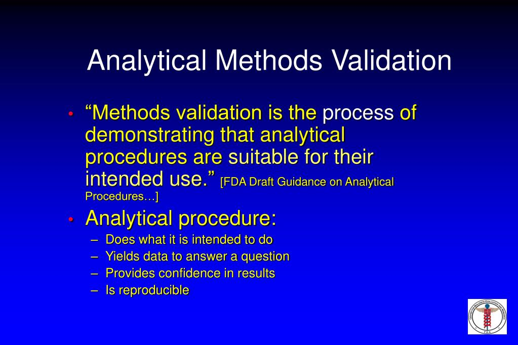 Analytical Methods Validation