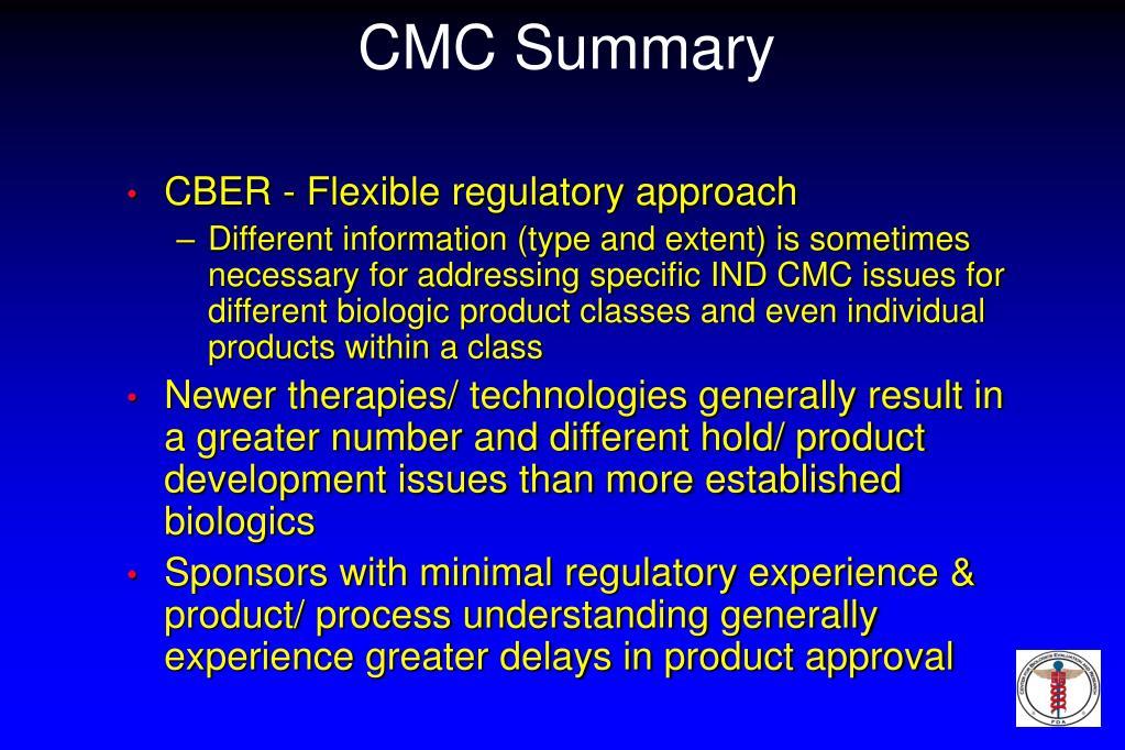 CMC Summary