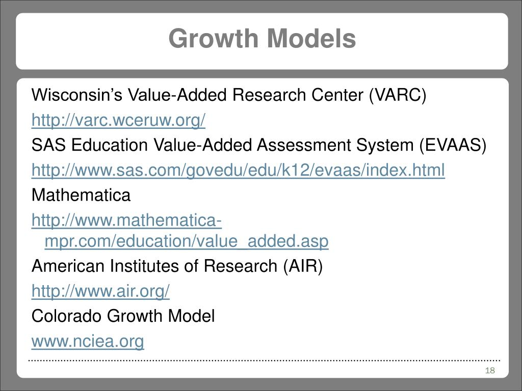 Growth Models