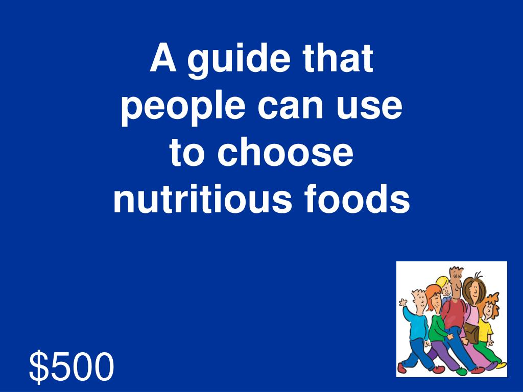 A guide that people can use to choose nutritious foods