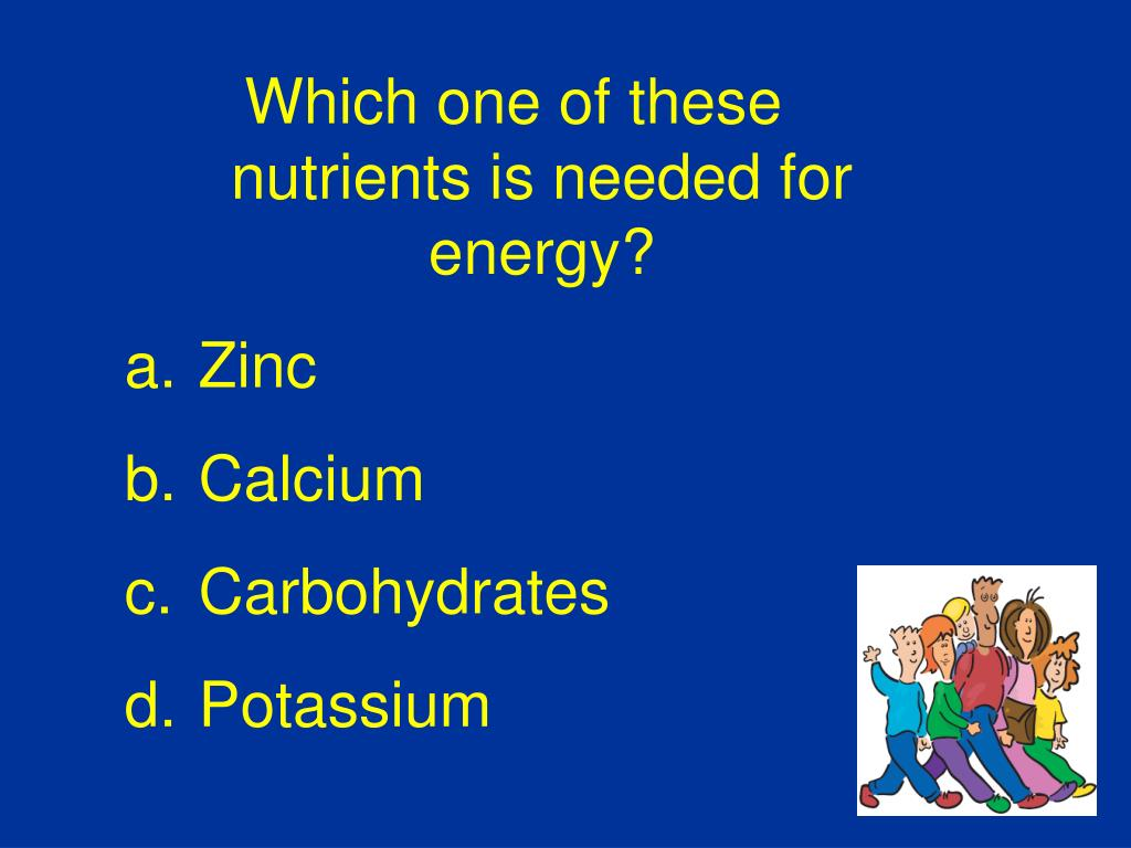 Which one of these nutrients is needed for energy?