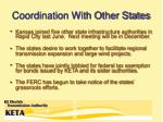 coordination with other states