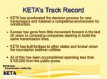 keta s track record