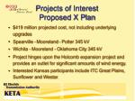 projects of interest proposed x plan