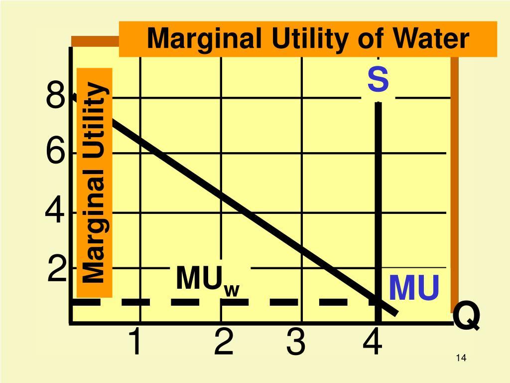 Marginal Utility of Water